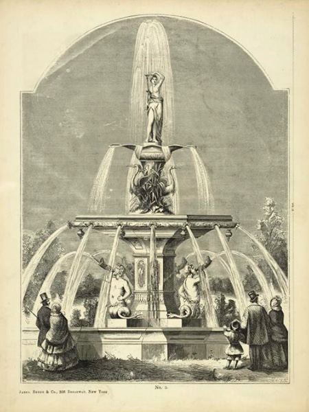 Fountain No. 5 in the Janes, Beebe, and Co. catalogue of ornamental iron works is the fountain in the center of Forsyth Park